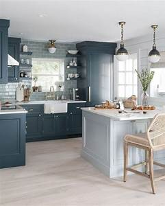 Adorable, Blue, Kitchen, Design, Ideas, 12