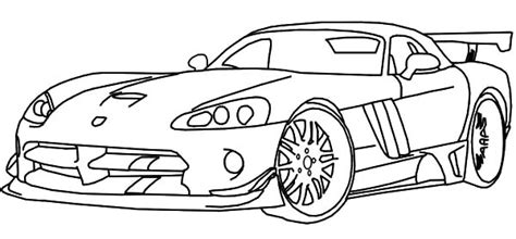 Dodge Race Car Viper Coloring Pages Coloring Sky