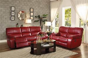 Pecos transitional style red leather gel match reclining for Red leather sectional sofa with recliners
