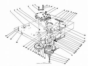 Toro 55660  44 U0026quot  Side Discharge Mower  1990 Parts Diagram