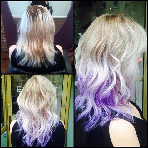 Ombre Blonde To Purple Hair Colors Hair Purple Hair