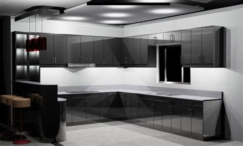 black shiny kitchen cabinets 15 astonishing black kitchen cabinets home design lover 4743