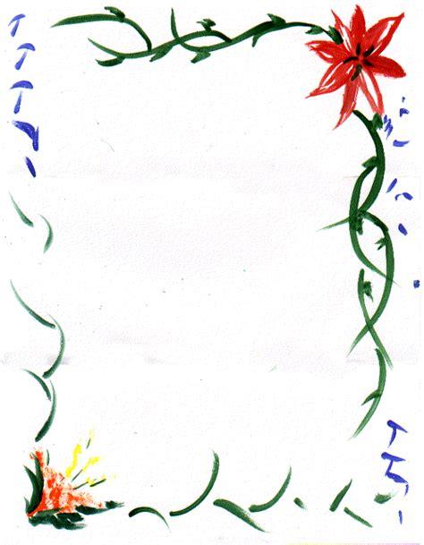 plant border designs flower page borders