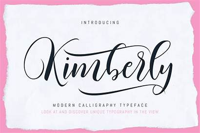 Kimberly Font Script Calligraphy Fonts Modern Designs