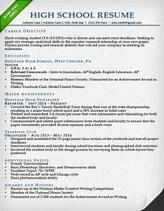 College application resume examples for high school for Resume template for college applications free