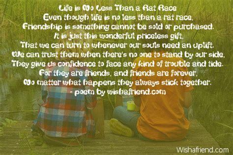 life      rat race poem  friends