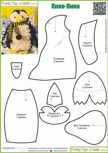 felt penguin stuffed toy pattern sewing handmade craft With stuffed animal templates free