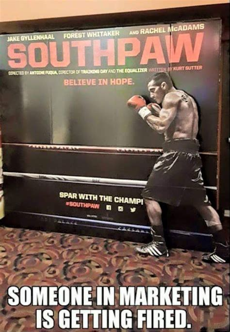 Meme Poster - boxing meme southpaw movie poster does not feature a southpaw proboxing fans com