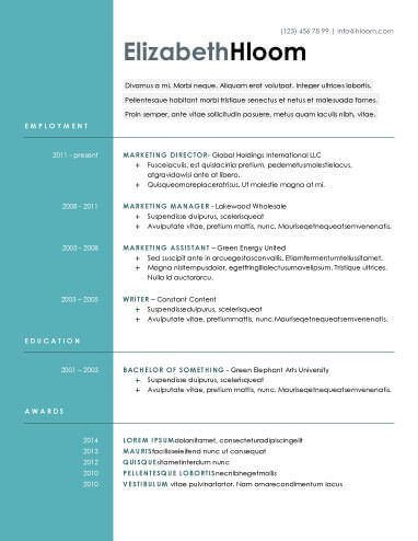 Free Sle Resume Format by Blue Side Free Resume Template By Hloom Projects
