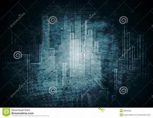 Vector Dark Tech Background Stock Vector - Image: 28935628