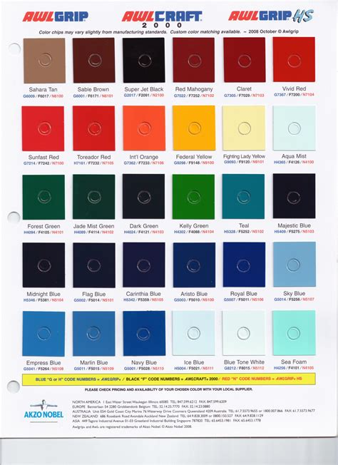 awlgrip metallic color chart irfandiawhite co