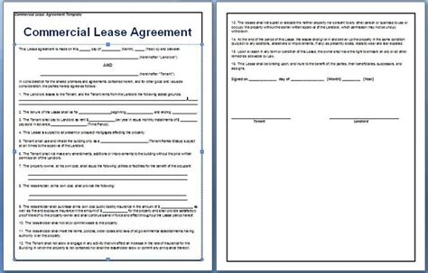 Lease Agreement For Office Space Template by A Contract Between A Tenant And A Landlord For The Rental