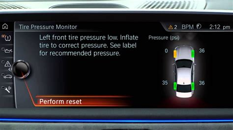 reset  tire pressure monitor tpms bmw genius