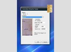 Australian Weather Radar Windows 7 Desktop Gadget