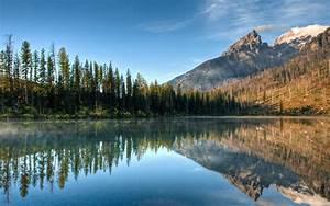 Nature, Lake, Landscape, Reflection, Fog, Mountain, Ice, Tree