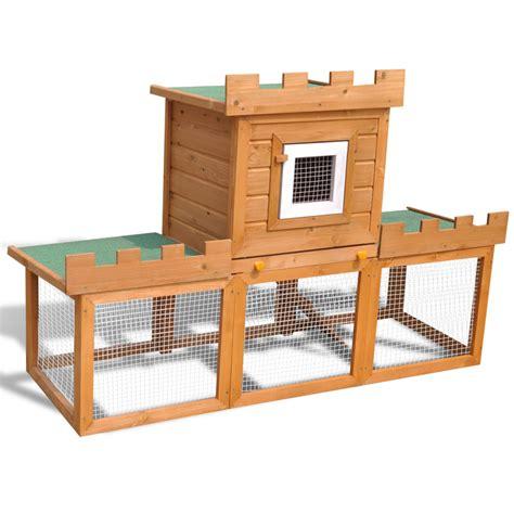 la boutique en ligne grande cage clapier ext 233 rieur pour lapins en bois vidaxl fr
