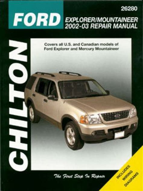 chilton car manuals free download 2004 ford ranger engine control chilton ford explorer mercury mountaineer 2002 2010 repair manual