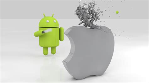 apple on android android is as popular as iphone according to poll
