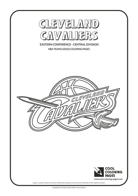 cool coloring pages cleveland cavaliers nba basketball