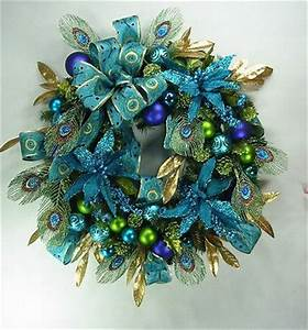 1000 ideas about Peacock Wreath on Pinterest