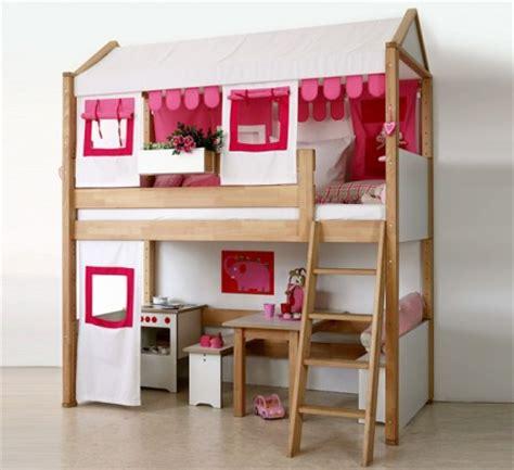 lit mezzanine 140 avec bureau lit pour chambre de fille lit original pour aménager une