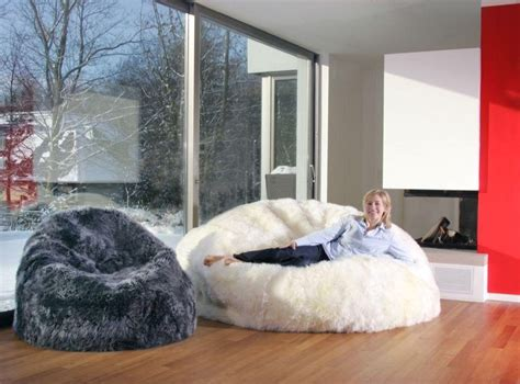 sheepskin bean bag chair cover designer colors 6