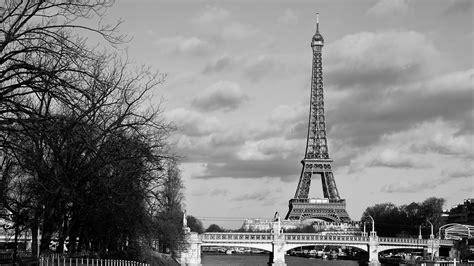 black  white  bridge  paris eiffel tower hd travel wallpapers hd wallpapers id