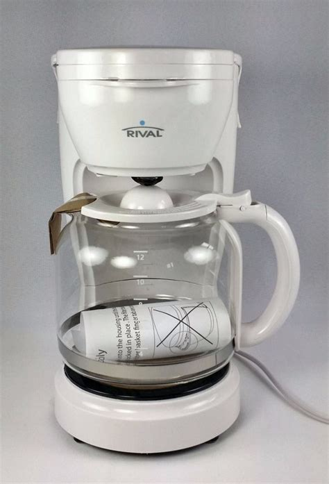 Frother lets you easily make specialty drinks. Rival 12 Cup Drip Coffee Maker White Model CM4306 New Unused #Rival | Drip coffee maker, Coffee ...