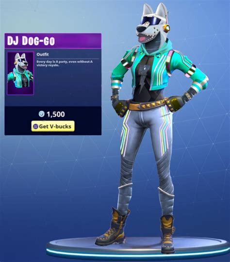 Dj Doggo My Female Turn On The Dj Yonder Skin Fortnite