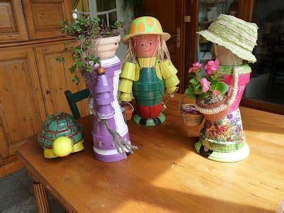 personnages en pot de fleur avec des pots de fleurs et un peu d imagination