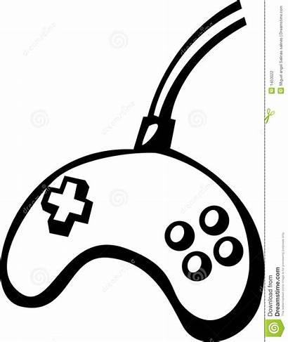Controller Vector Clipart Videogame Illustration Xbox Coloring