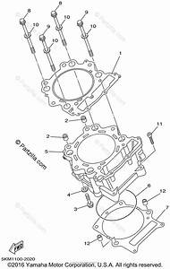 Yamaha Atv 2002 Oem Parts Diagram For Cylinder