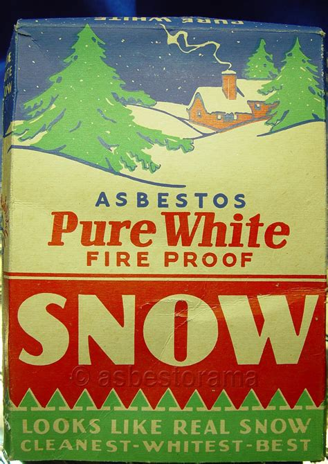 vintage box  asbestos snow decoration image