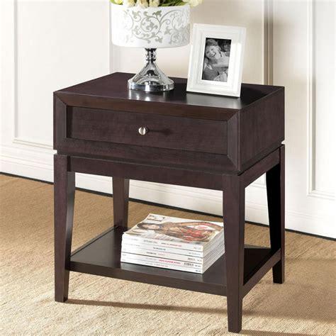 Black Brown Nightstand by Baxton Studio Harlow 1 Drawer White And Medium Brown Wood
