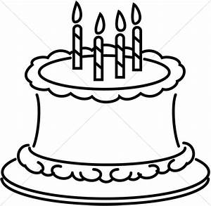 Cake clipart line art - Pencil and in color cake clipart ...