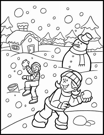 Wonderland Coloring Winter Activity Printable