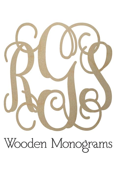 wooden monogram letters unfinished wood monograms