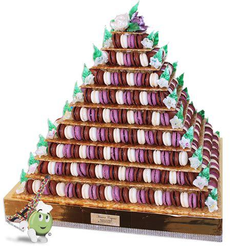 pyramide de macarons et nougatine