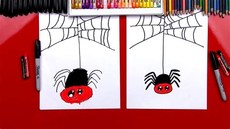 draw  cartoon spider art  kids hub
