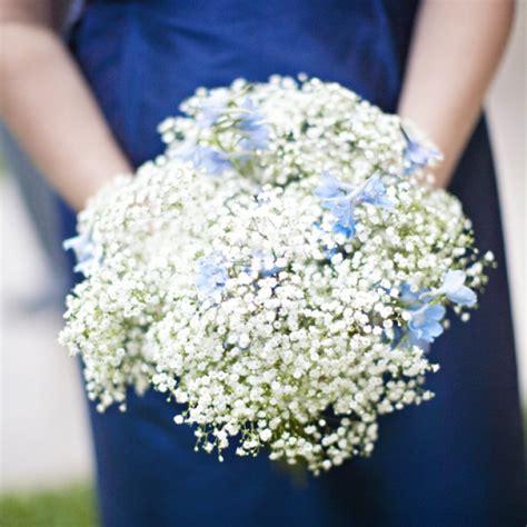 babys breath bouquet wedding flower