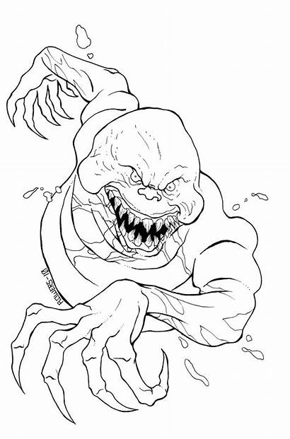 Coloring Scary Pages Evil Ghost