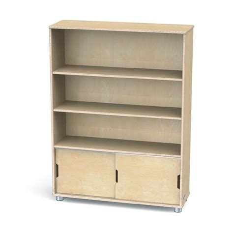 48 High Bookcase by Truemodern 48 Quot High Three Shelf Bookcase 1724jc Sleek