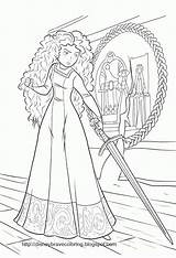 Coloring Brave Pages Merida Disney Princess Toaster Sheets Colouring Printable Movies Adult Pictiure Pixar Colors Books Activity Animal Popular Visiter sketch template