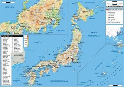 Japan Map Physical Maps Ezilon Asia Japanese