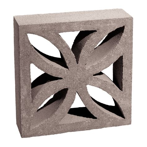 decorative cinder blocks home depot shop basalite common 4 in x 12 in x 12 in actual 3 5