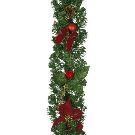 christmas poinsettia garland 18m on sale fast delivery