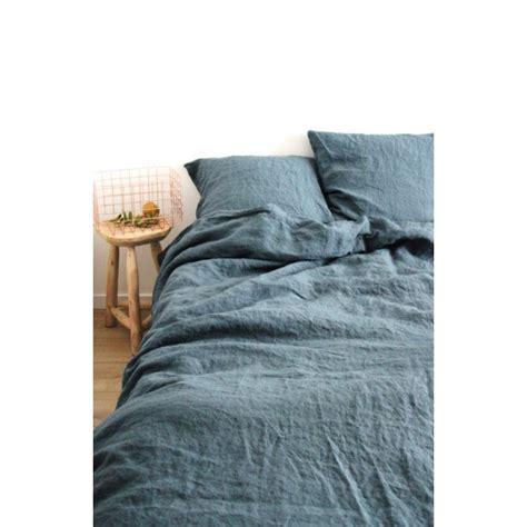 lave linge pour couette housse de couette en lave bleu gris washed 240x220cm