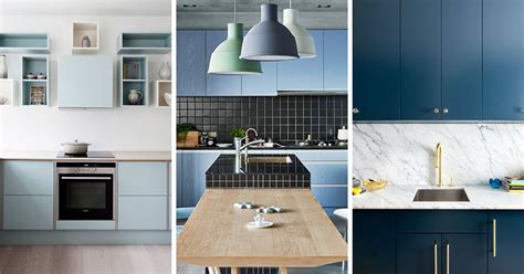Small Kitchen Design In Yellow Blue Shades by Kitchen Color Inspiration 12 Shades Of Blue Cabinets