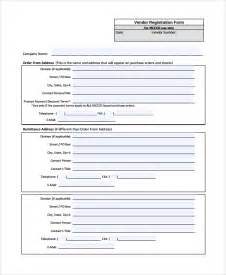 Vendor Registration Form Template Word