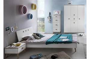 Chambre Fille Ado : chambre fille ado compl te blanche et bois chic ~ Teatrodelosmanantiales.com Idées de Décoration